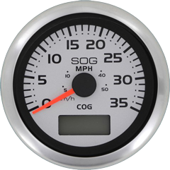 allpa Argent Pro snelheidsmeter 0-35 Mph (inclusief pitot & slang)