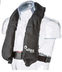allpa Automatisch reddingsvest model Antares 150N >40kg zwart (CE ISO 12402-3 150N)
