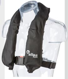 allpa Automatisch reddingsvest model Antares 275N  >40kg  zwart (CE ISO 12402-2 275N)