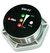 allpa Battery watch monitor model BW-02  7-32V  Ø35mm  3-way monitoring met alarm