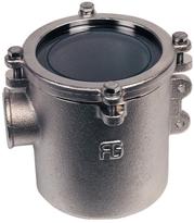 allpa Brons-Vernikkelde Koelwaterfilters ( robuust ) met RVS 316 Zeef