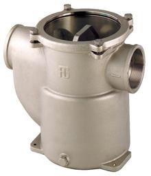 allpa Brons-Vernikkelde koelwaterfilters (robuust) met RVS 316 zeef  1-1/4  H=176mm  8800l/h