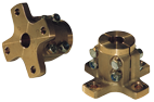 allpa Bronzen klemflens (kruisvormig) voor Ø30mm-as  steek (C) Ø82 5mm  4x Ø10mm (E)