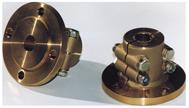 allpa Bronzen klemflens met centreerrand  Ø35mm-as  center Ø63 5mm  steek Ø108mm  4x Ø11 5mm