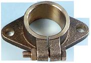 allpa Bronzen montageflens voor schroefaskoker Ø50mm buitenmaat: Ø80