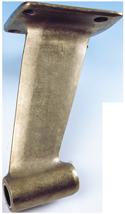 allpa Bronzen uithouders met rechte montageflens  voor schroefas Ø45mm