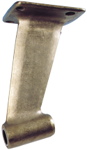 allpa Bronzen uithouders met rechte montageflens  voor schroefas Ø60mm