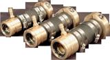 allpa Bronzen  zwevend binnenlager met dubbele keerring  voor schroefas Ø35mm & koker Ø50mm