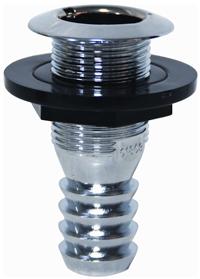 allpa Chrome huiddoorvoer (met kunststof moer)  tule aansluiting 25mm  draad diameter 1