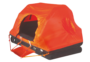 allpa Coastal Reddingsvlot ISO 9650-1 6-persoons in container (zelfoprichtend)