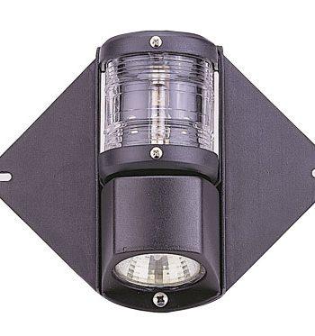 allpa Combinatie top-/deklicht  mastmontage  12V / 10W  225º  zwart huis met heldere lensen