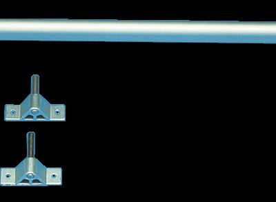 allpa Complete aluminium roerset  kort model  met vingerlingen