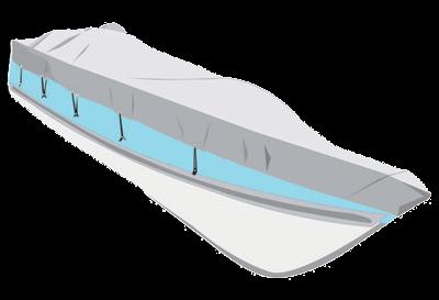 allpa Dekzeil maat XXL  marine/blauw  bootlengte 630-710cm  bootbreedte 380cm