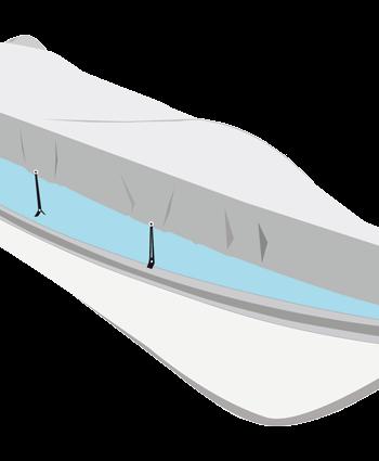 allpa Dekzeil maat tender  zilvergrijs  bootlengte 240-300cm  bootbreedte 140-150cm