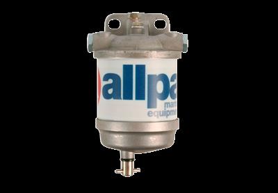 allpa Dieselfilter met waterafscheider en aluminium reservoir  50l/h (ISO 7840:2004  ISO 1008:2009)