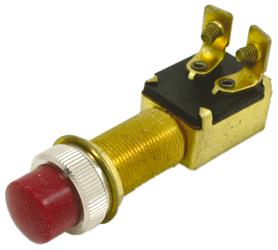 allpa Drukschakelaar 12V  2-posities  A=28mm  B=14mm  C=18mm  met rode Knop