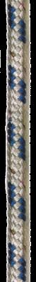 allpa Dubbelgevlochten voorgerekt polyester  Ø14mm  wit met blauwe merkdraad  100m (breekkr. 3400kg)