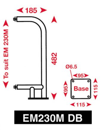 allpa Echomax 230M-DB Bevestigingsbeugel voor dekmontage EM230-Midi