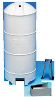 allpa Echomax EM230-BR radarreflector met RVS mastbeugels wit (wheelmark)
