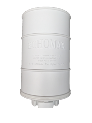 allpa Echomax EM230 midi radarreflector (basemount) zonder RVS beugel wit