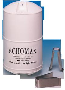 allpa Echomax EM230 midi radarreflector met RVS mastbeugels  wit