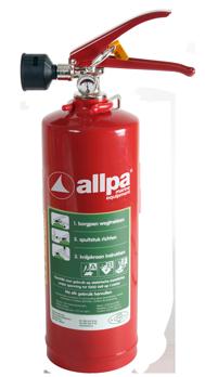 allpa Ecocold Sproeischuimblusser 2l  Ø110mm  H=285mm (405mm incl. handel) (brandklasse A + B + F)