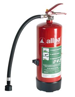 allpa Ecocold Sproeischuimblusser 6l  Ø160mm  H=415mm (560mm incl. handel) (brandklasse A + B + F)