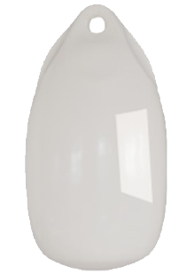 allpa Fender druppelmodel Dumpy  Ø150mm  L=300mm  wit (maat 1) (opblaasbaar met kogelventiel)