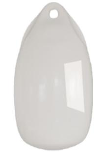 allpa Fender druppelmodel Dumpy  Ø180mm  L=360mm  wit (maat 2) (opblaasbaar met kogelventiel)