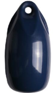 allpa Fender druppelmodel Dumpy donkerblauw  Ø150mm  L=300mm  (maat 1) opblaasbaar + kogelventiel