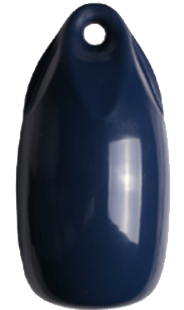 allpa Fender druppelmodel Dumpy donkerblauw  Ø180mm  L=360mm  (maat 2) opblaasbaar + kogelventiel