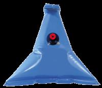 allpa Flexibele kunststof drinkwatertank 55l  afm. 950x950mm  punt model  inclusief dop & nippels