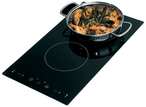 allpa Flush mount elektronische kookplaat met touch screen control  2-pits 230V  500x300x41mm