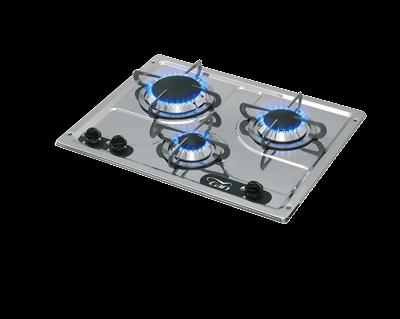 allpa Gaskomfoor RVS branders: 1x klein / 1x medium / 1x groot