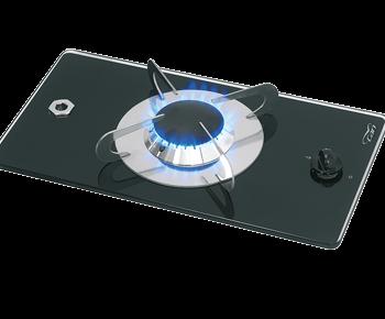 allpa Gaskomfoor met thermische glasplaat 365x200x80mm  brander: 1x medium
