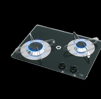 allpa Gaskomfoor met thermische glasplaat 380x280x80mm  branders: 1x klein / 1x medium