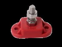 allpa Geïsoleerde aansluitbout tinnenplaat op ABS basis 10mm rood