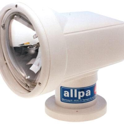allpa Halogeen zoeklicht elektrisch bediend met controle paneel 12V/4 5A dubbel element: 40&60W
