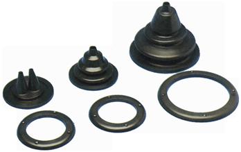 allpa Kabeldoorvoer / Balg dubbel met losse montagering  gatmaat Ø72mm  buitenmaat Ø105mm  H=52mm