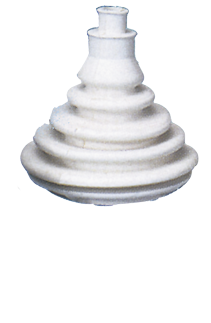allpa Kabeldoorvoer / Balg zonder montagering  gatmaat Ø70mm  H=109mm  wit