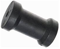 allpa Kielrol  L=127  gatmaat 16mm (gegoten rubber)