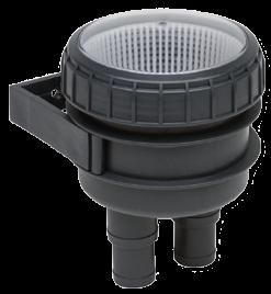 allpa Koelwaterfilter Ø32-38mm Quick Fit  met wandhouder en doorzichtig deksel 300l/min