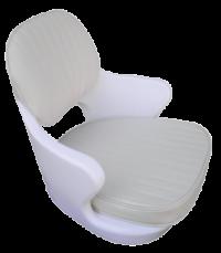 allpa Kuipstoel model Kreta  wit