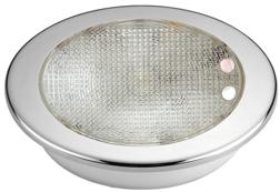 allpa Kunststof 2-Kleurige LED-Plafondlamp met RVS ring inbouw 8-30V LED 1x 3W + 10x top RED