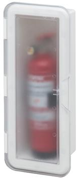 allpa Kunststof Brandblusserhouder met transparante deksel  430x180x110mm