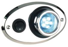allpa Kunststof LED-binnenverlichting 1pbouw met oogbal-rotatie 360º 12V/0 5W warm white