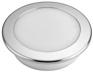 allpa Kunststof LED-plafondlamp met RVS ring inbouw 12V/7 5W LED 16x 5Ø
