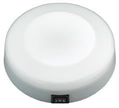 allpa Kunststof LED-plafondlamp opbouw 12V/1W LED 5Ø H=40mm warm white
