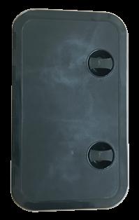 allpa Kunststof Luik 243x606mm 2x sluiting 180º zwart
