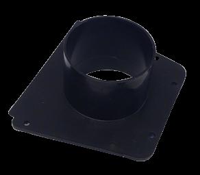 allpa Kunststof Montageplaat met slangaansluiting (Ø76mm) voor luchtschelp 048975